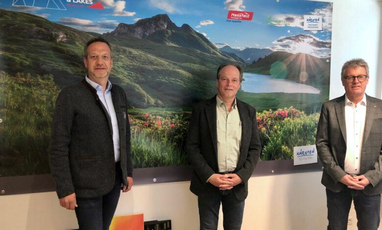 v.l.: GF NLW Tourismus Marketing GmbH Markus Brandstätter, Aufsichtsratsvorsitzender NLW Tourismus Marketing GmbH Hans Steinwender & GF NLW Tourismus Marketing GmbH Christopher Gruber.