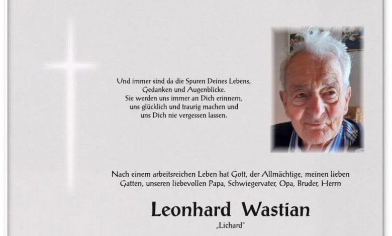 Leonhard Wastian, www.gitschtal.news