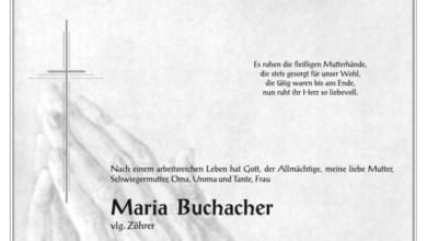 Maria Buchacher vlg. Zöhrer